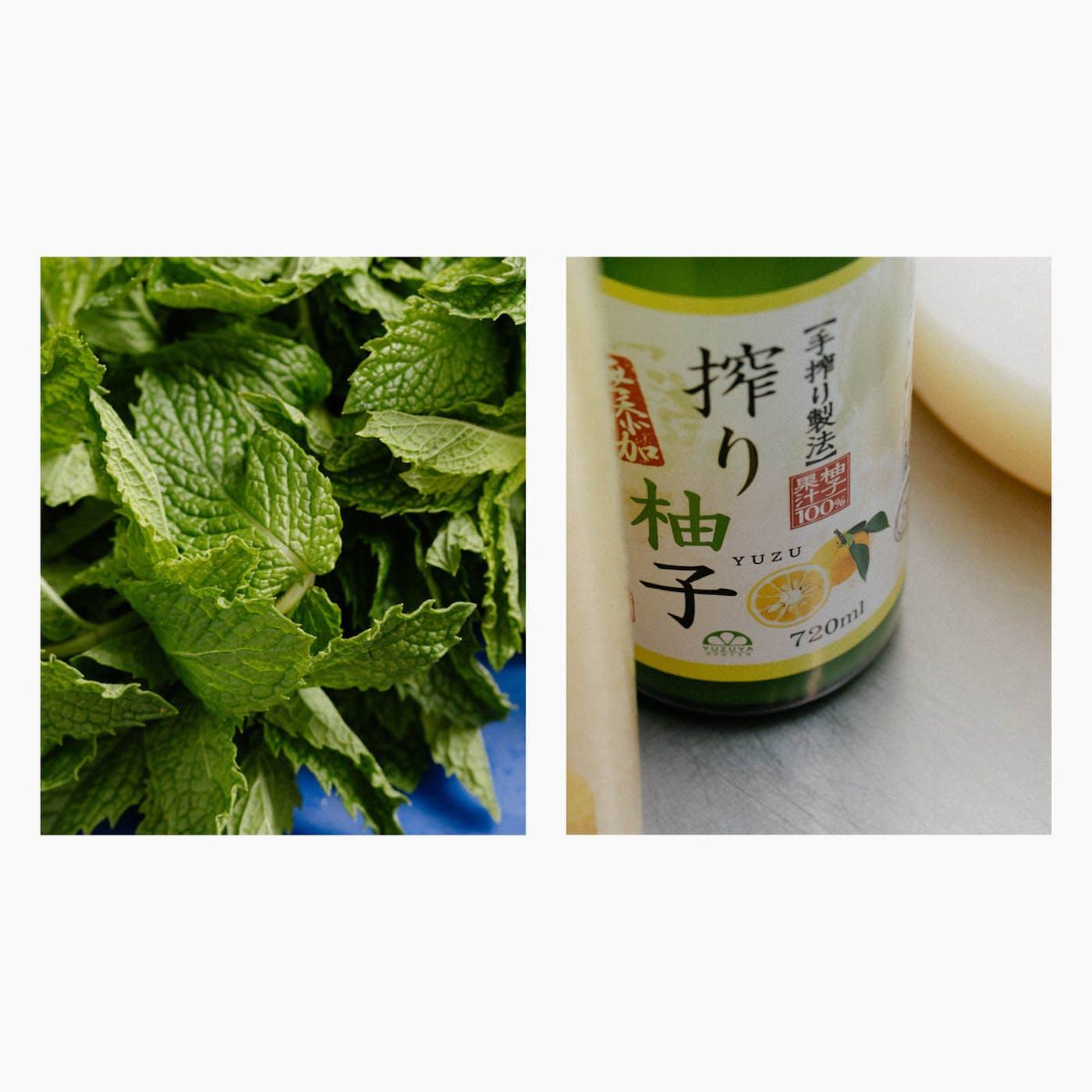 Sorbet yuzu et menthe (500 ml)