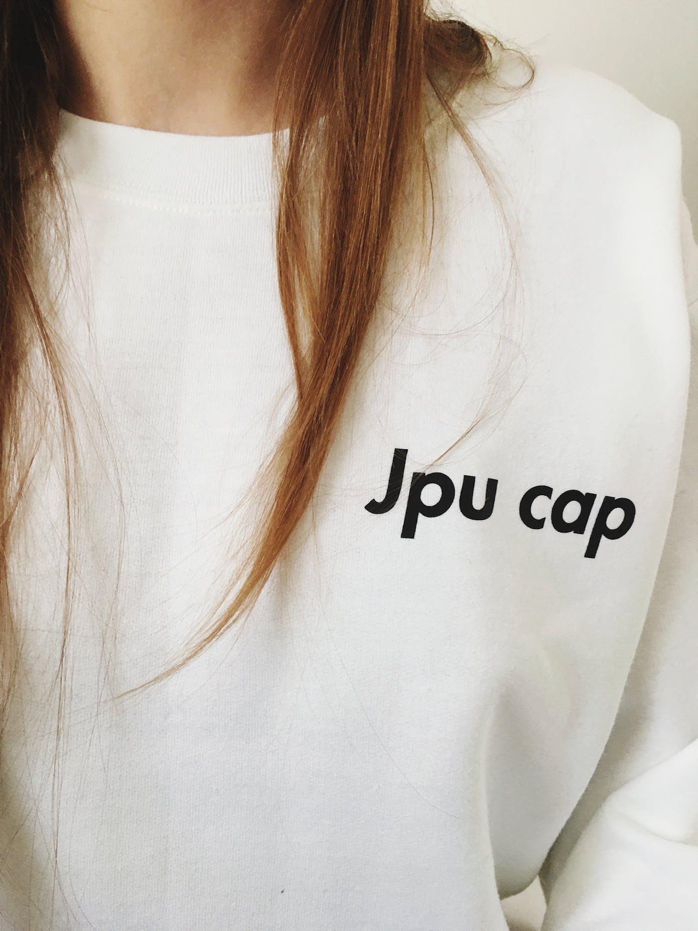 JPU CAP Sweater in White #2