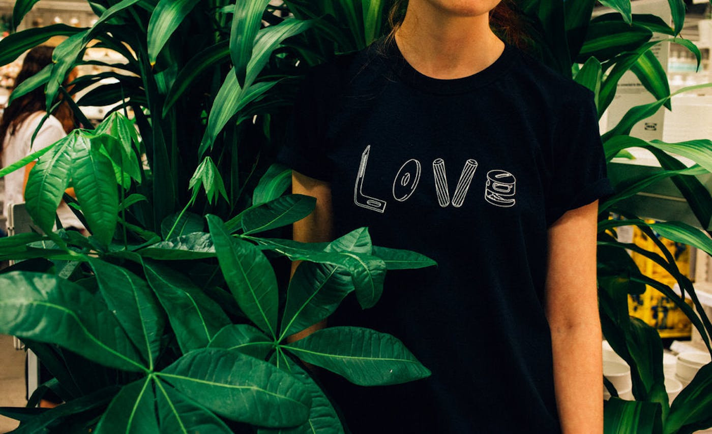 Love Tee in Black